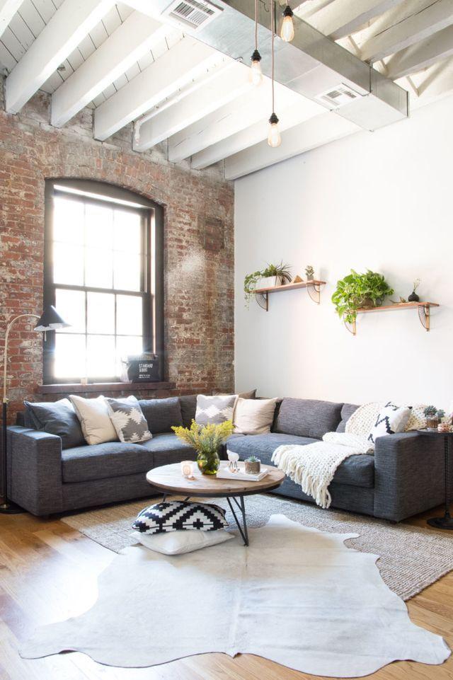 industrial living room grey