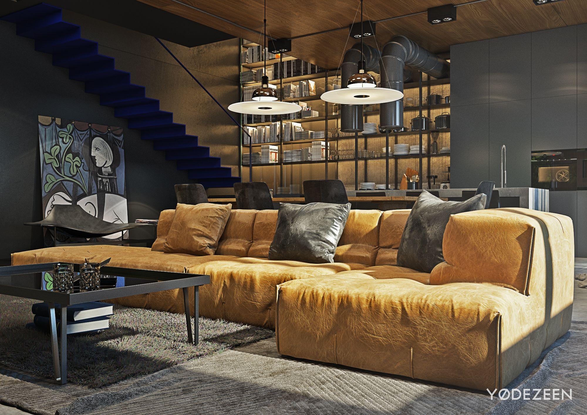 rustic industrial living room decor