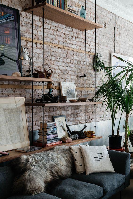 industrial mirror living room