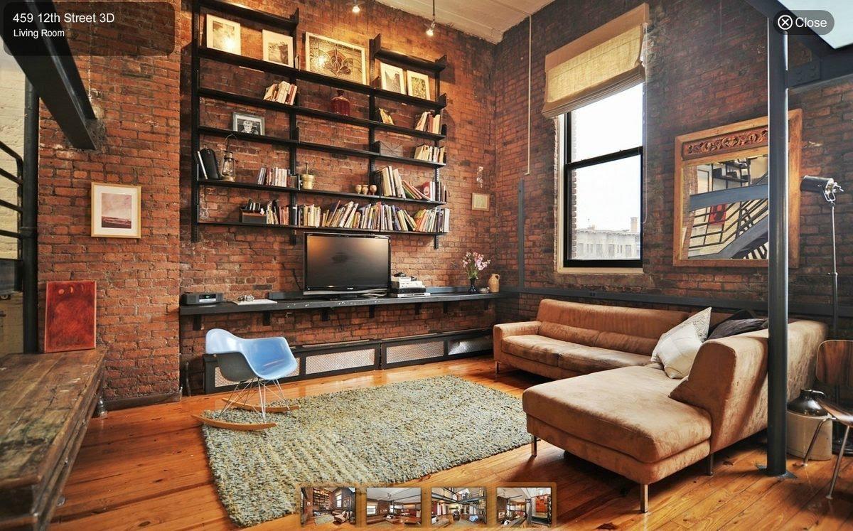 industrial living room white