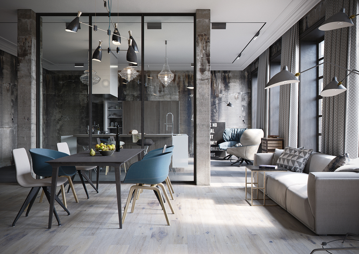 industrial living room definition