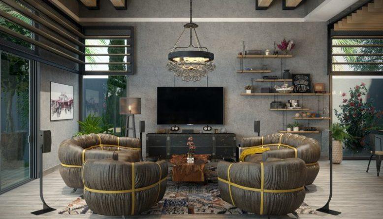 Industrial Living Room luxury