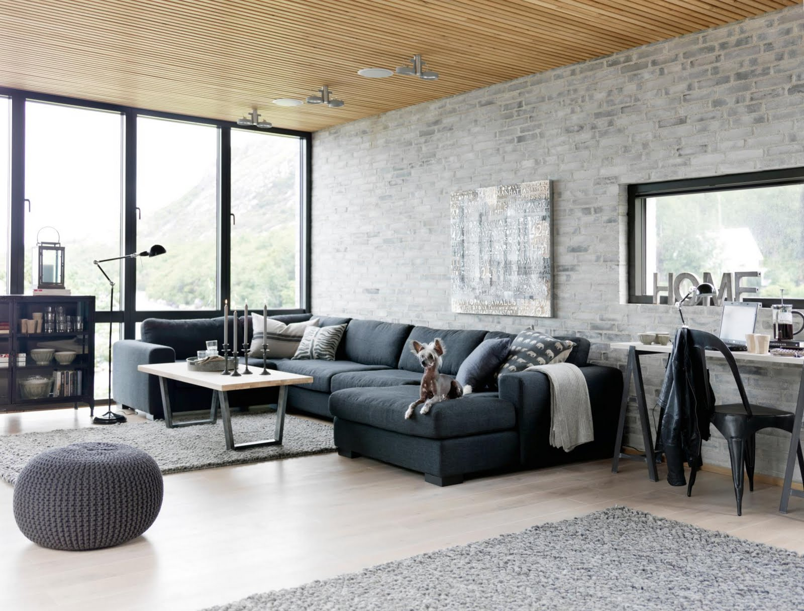 industrial style kitchen living room