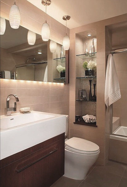 Lighting Effect Bathroom Wall Decor Ideas