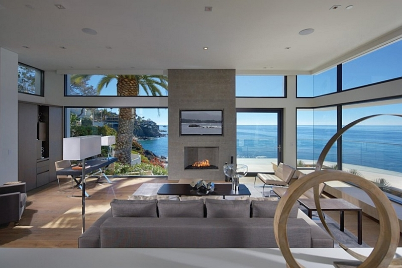 Living-room-with-glass-walls california house