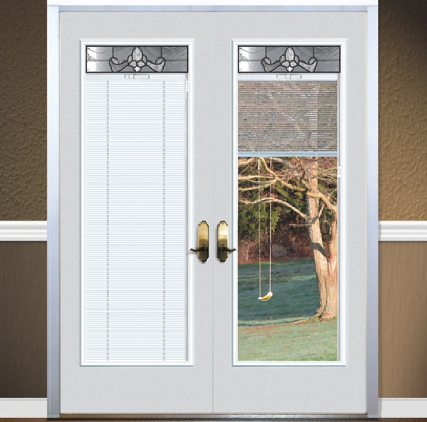 french door blinds idea