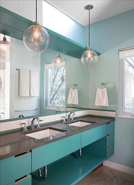 Retro Modern Bathroom Wall Decor Ideas