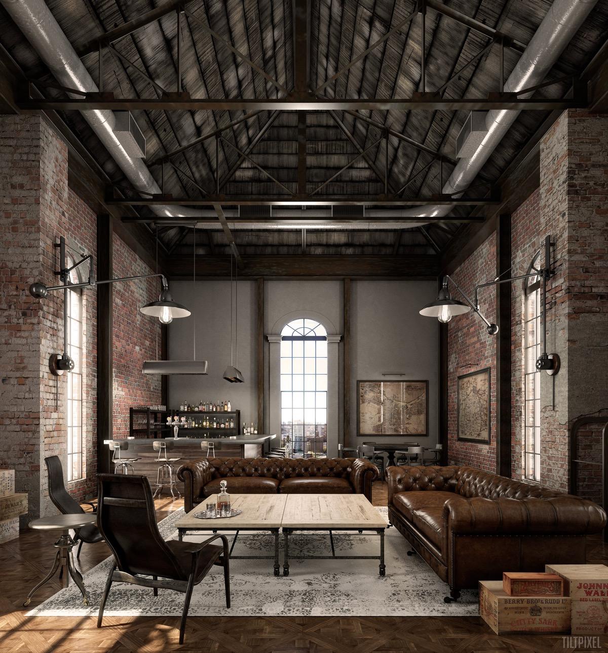 industrial living room lamps
