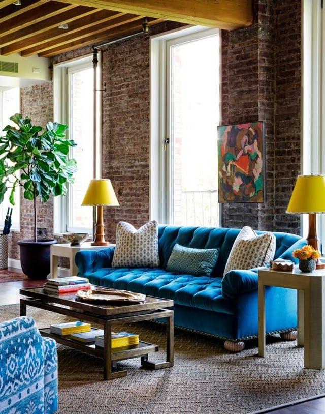 colourful living room decor