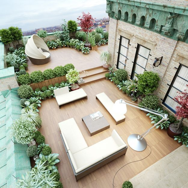 rooftop garden floor plan