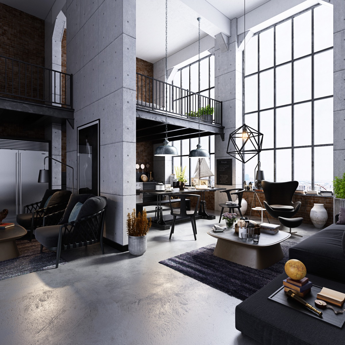 industrial living room cabinet
