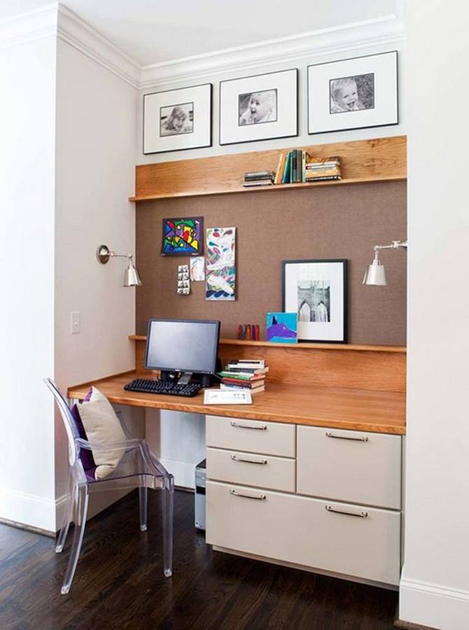 small home office corner computer desk