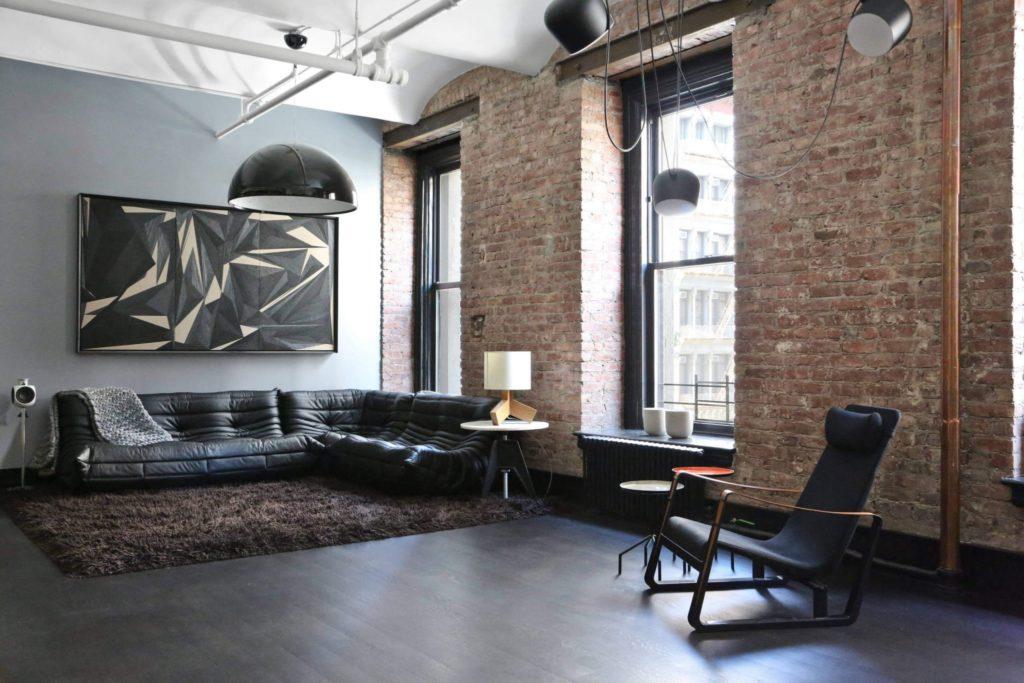 industrial living room mood board
