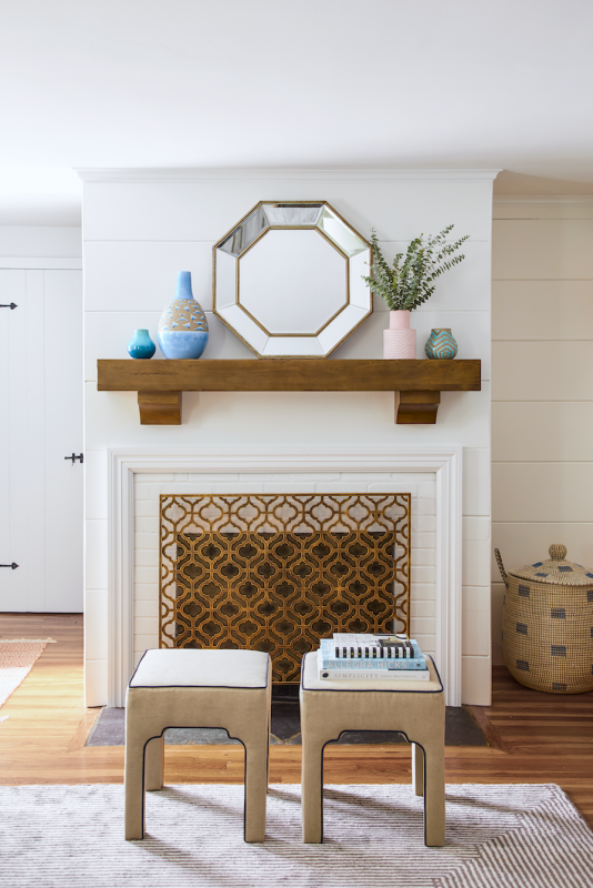 mirror mantel Living Room Wall Decor Ideas