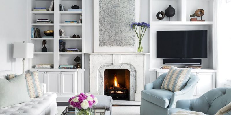 relaxing blue gray Living Room Wall Decor Ideas