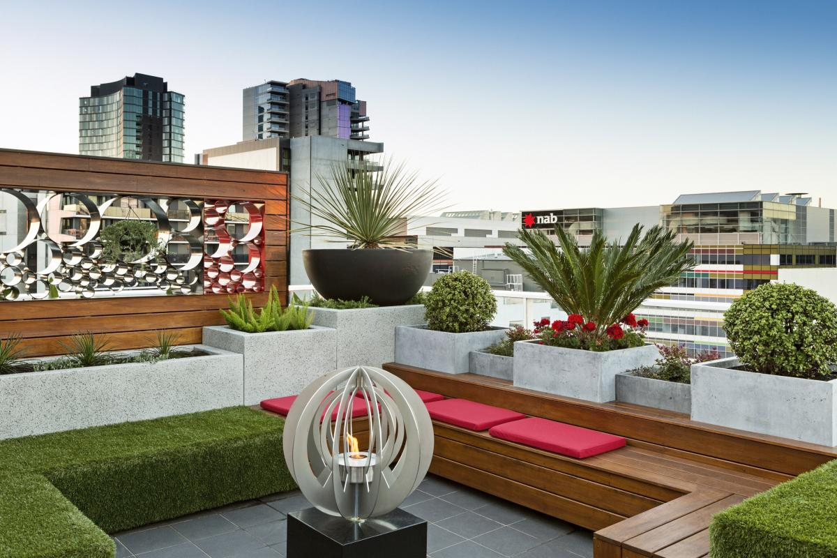 rooftop garden definition