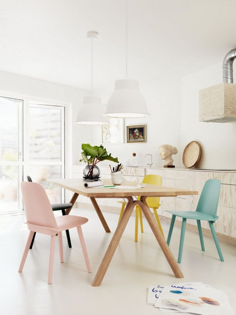 white scandinavian chair