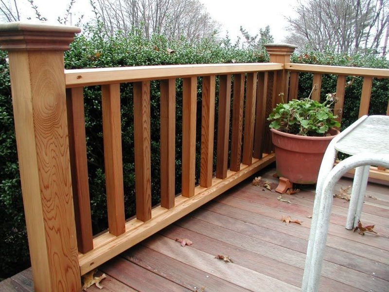 wood balcony idea