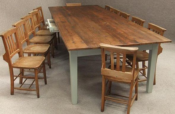 Rustic Farmhouse Dining Room Table