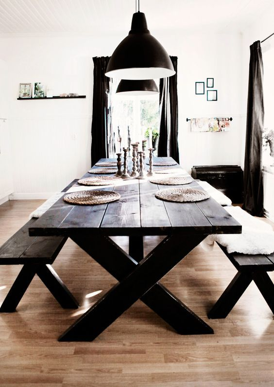 Rustic Distressed Dining Room Table
