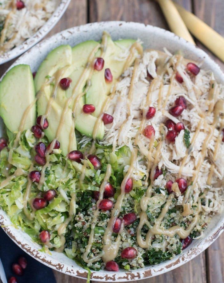 chicken quinoa veggie bowl recipe
