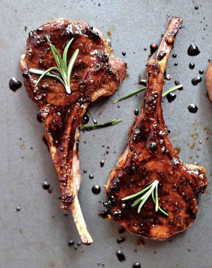 honey balsamic lamb chops recipe