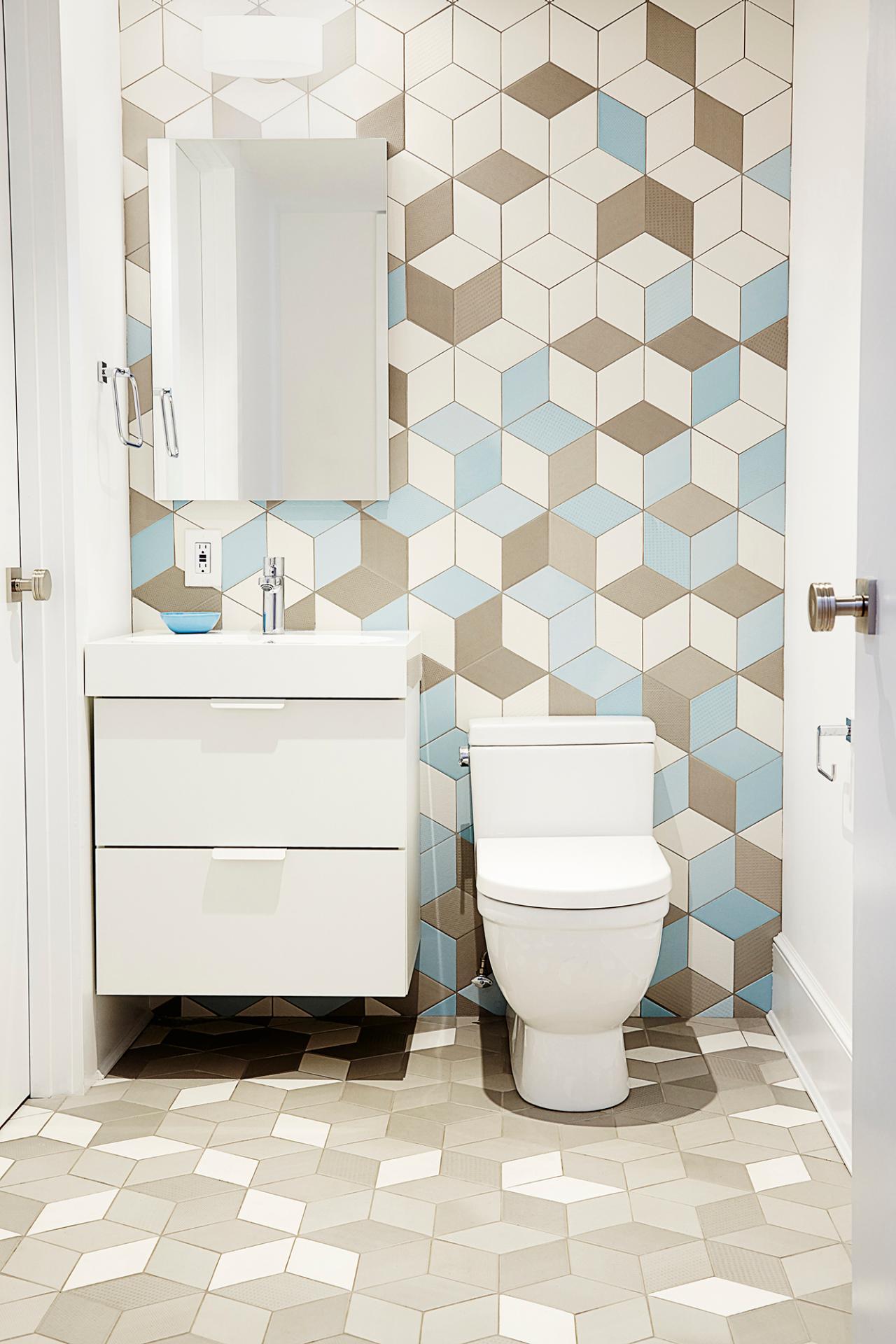 rustic bathroom floor ideas