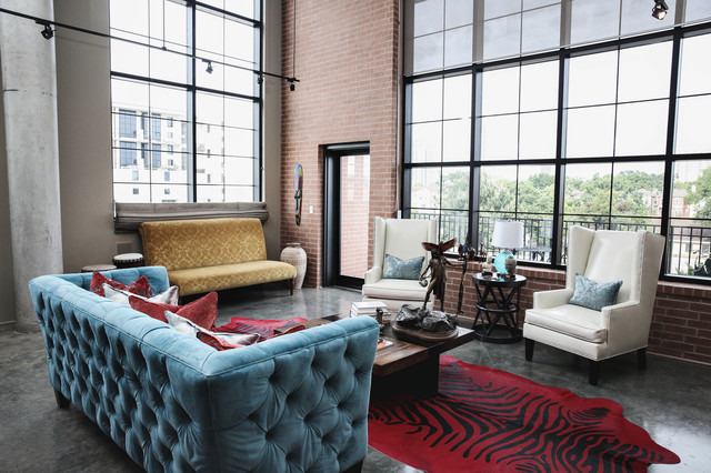 industrial living room images