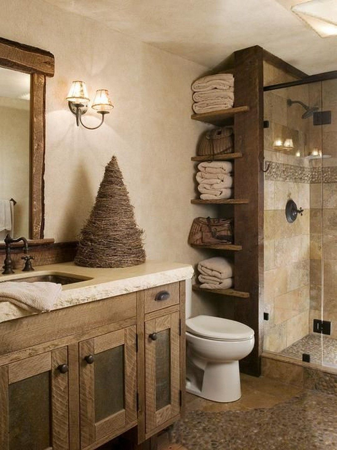 rustic shower curtain rod