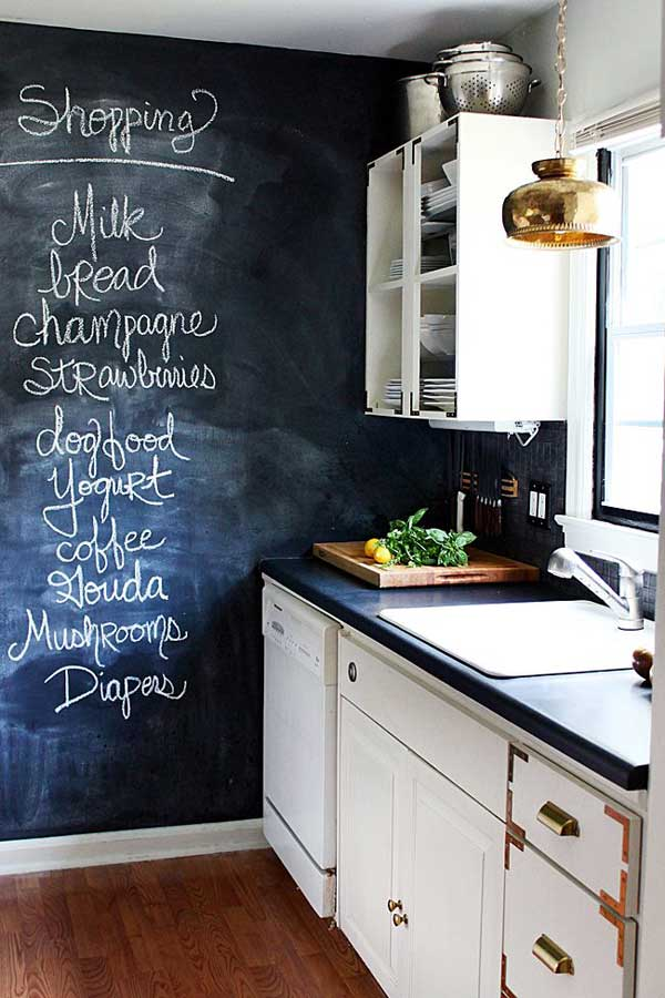Black Board Kitchen Wall Decor