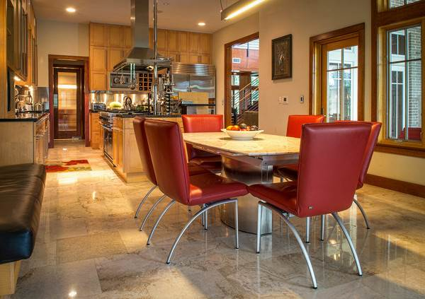 Glen Kernan Residence kitchen flooring