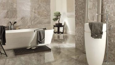 Luxury Home Bathroom Floor Tile Idea