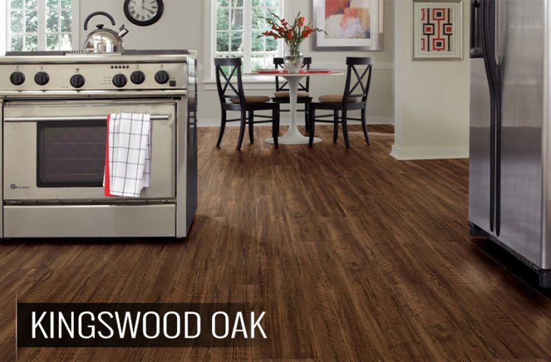 Wirebrushed Wood (& Wood-Look) Kitchen Flooring