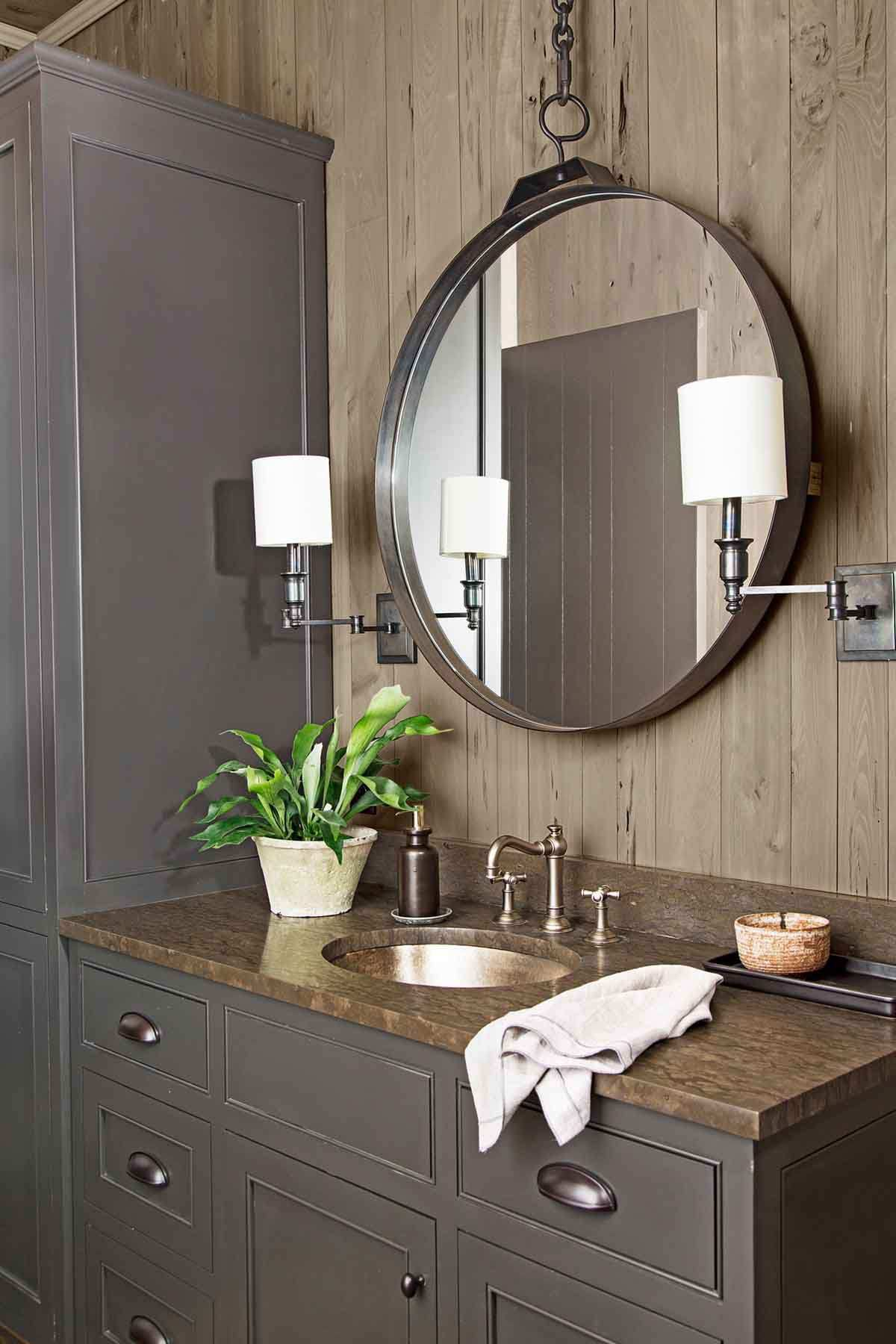 rustic bathroom storage ideas
