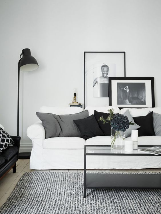 white interior design living room