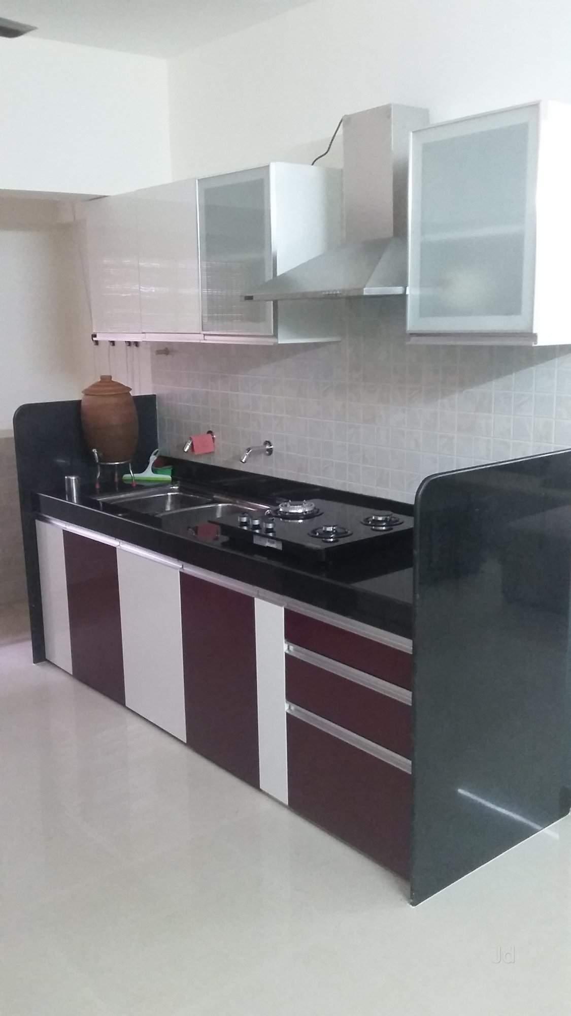 modular kitchen design with pantry