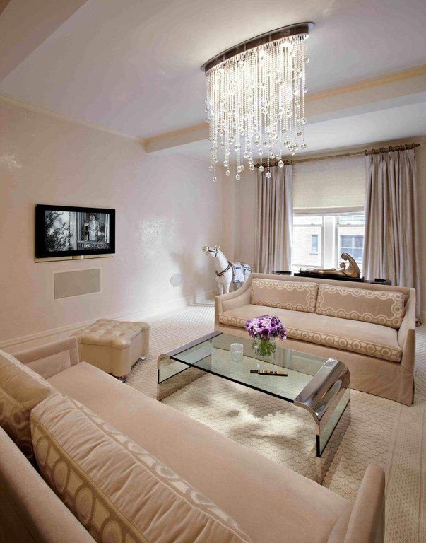 modern chandelier white