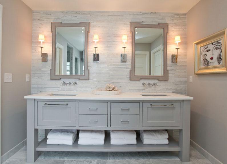 painted-vanity Bathroom Wall Decor Ideas