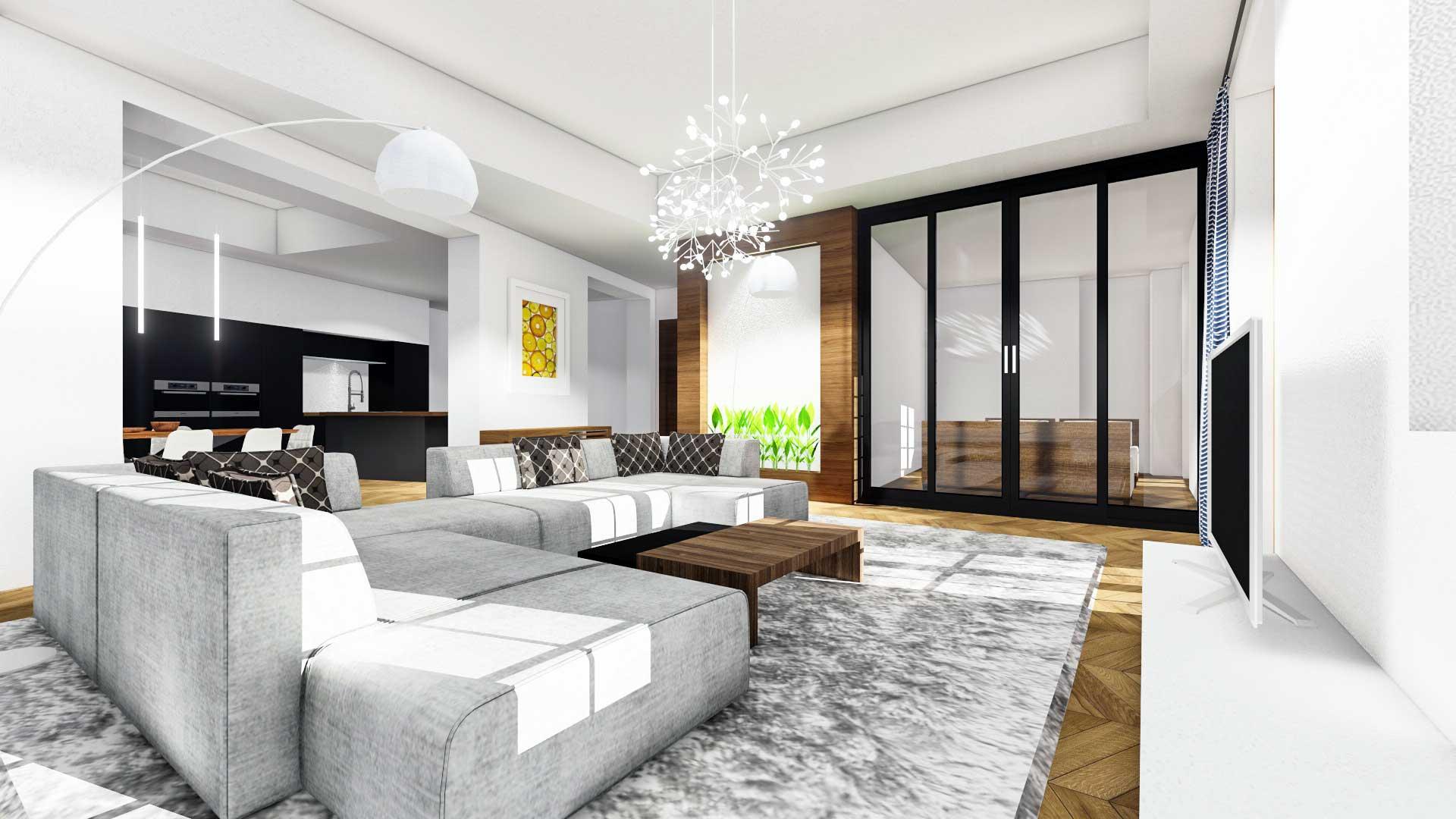 living room chair and ottoman