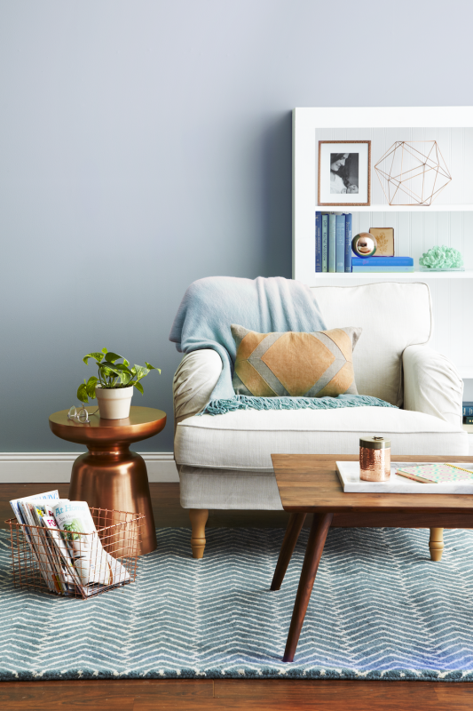 slate copper Living Room Wall Decor Ideas