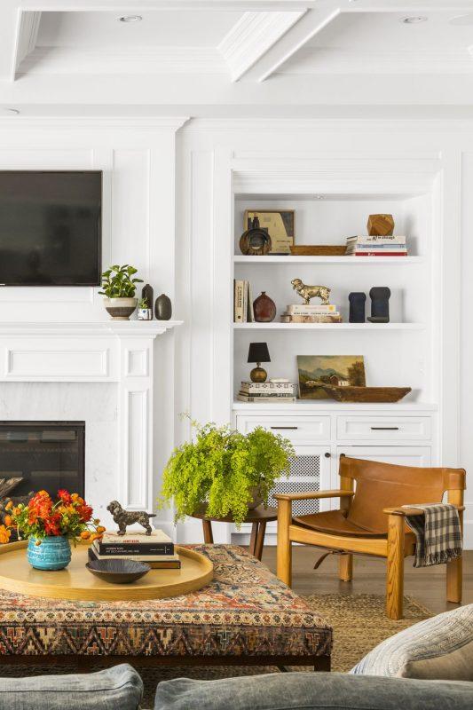 white textured living room