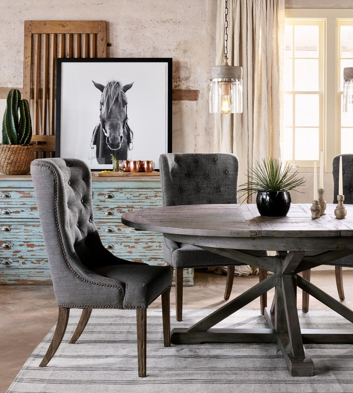 Rustic Glam Dining Room Table